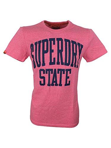 Superdry -  T-shirt - Maniche corte  - Uomo rosa Large