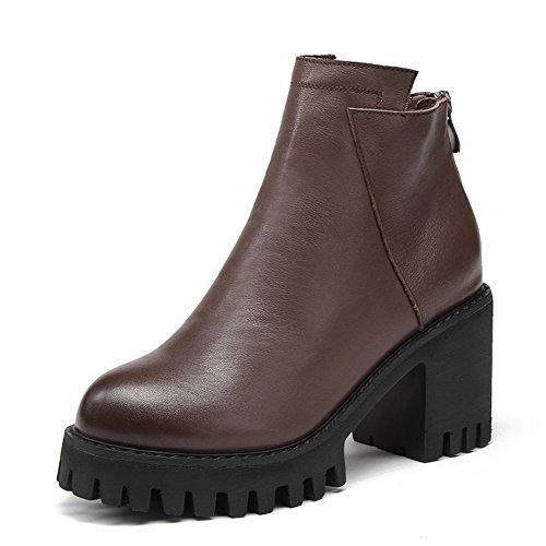 Bottes courtes pour les femmes/Bottes de Martin/La version coréenne de talons hauts/Chaussures de mode Joker A