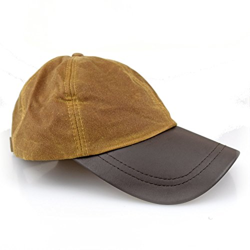 Romneys Wachscap | aus 100% gewachster Baumwolle, wind und wasserdicht | Farbe: Beige | One Size