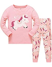 Girls Christmas Pyjamas Set Toddler Clothes Sleepwear Animal Printed Nightwear Winter Long Sleeve PJs 2 Piece Outfit Xmas Gift for Kids
