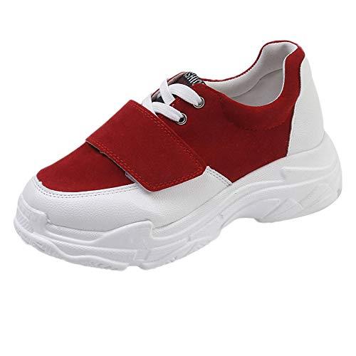 Lazzboy Damen 219181 Running Weicher Dick-Soled Sneaker(Rot,38.5)