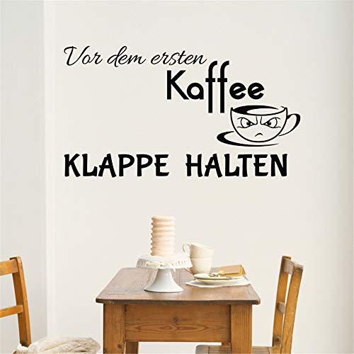(wandaufkleber katze Var Dem Ersten Kaffee Klappe Halten für Küchenspeisesaal)