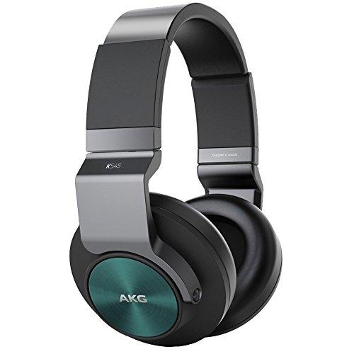 AKG Acoustics K 545 - Auriculares de diadema con micrófono integrado, Universal/ Apple compatibilidad - color negro / turquesa