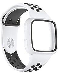 Prevently - Correa de Reloj de Repuesto para Fitbit Versa (Silicona), Blanco