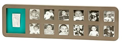 Baby Art First Year Print Frame Rounded (Taupe & Azure/Sun)