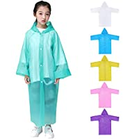 wall-8-CC Outdoor Activities Supplies Thick Jacket Cover Waterproof Kids Long Hooded Rainsuit Children