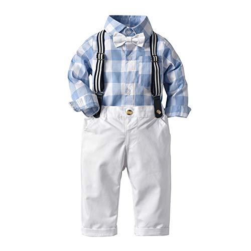 Zoerea Baby Jungen Bodys Gentleman Suit Hosenträger Krawatte Shirt & Hosen Bekleidungssets (Body Herren Suit)
