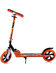 Patinete Cimiva Patinete pegable Carga 150KG Altura 107cm, color naranja