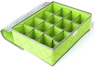 DivineXt 24 Slots Bamboo Charcoal Storage Box Underwear Case Folding Wardrobe Drawer Wardrobe for Socks Bow Organizer Bin