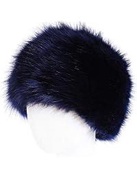 G-Kids Damen Warm Winter Mütze Fellmütze Pelzmütze Wintermütze Faux Fuchs Pelz Weich Damenmütze Fliegermütze Cap Hut