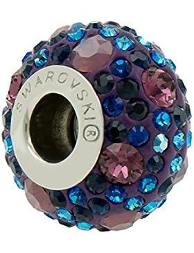 Echt Charm Perle von Swarovski -Purple Blue - Passt zu Pandora Armbändern - Ideales Geschenk für Frauen und Mädchen...