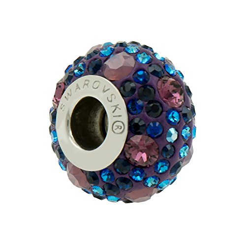Genuine branello di fascino da Swarovski -Purple Blu - Adatto Pandora Bracciali - Ideale regalo per donne e ragazze - è disponibile in confezione regalo