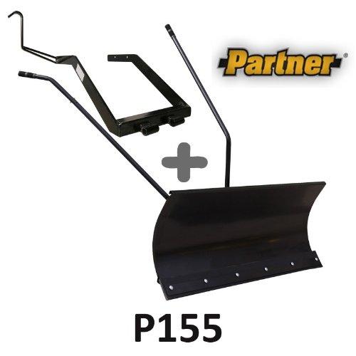 Lame à Neige 118 cm Noire + adaptateur pour Partner P155