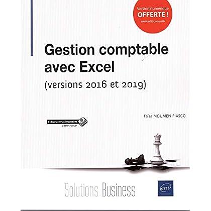 Gestion comptable avec Excel - (versions 2016 et 2019)
