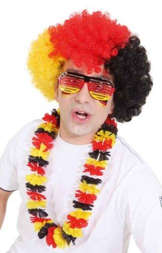 Orlob Shutter Shades Party-Brille Deutschland Fussball-Fanartikel schwarz-rot-gelb Einheitsgröße