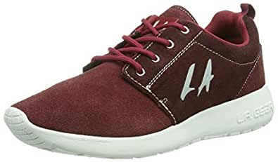 L.A. Gear  SUNRISE, Sneakers basses femme - Rouge - Rot (burgundy 07), 41 EU