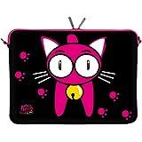 Kitty to Go LS133-17 Back Home Designer Schutzhülle für Laptops und Notebooks mit einer Bildschirmdiagonale von 43,9 cm (17,3 Zoll) pink-schwarz - gut und günstig
