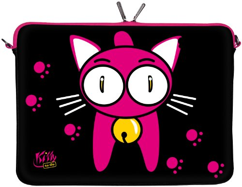 DIGITTRADE LS140-15 Notebook Sleeve 39,6cm 15,4 Zoll Laptoptasche Kitty to Go Neopren Schutzhuelle bis 39,6cm 15,6 Zoll wasserabweisend Anti Shock System Protection Case Neoprene LS133 Back Home