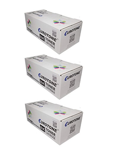 3x Eco Toner ersetzt Kyocera TK-17 XXL Patronen - für FS1000 FS1010 FS1050 Series: FS-1000 Arztdrucker / N / Plus / Plus N / Plus PS / Plus PSN & FS-1010 N / T / TN & FS-1050 N / T / TN - deutsche Qualität von Eurotone - kein Original - 100% kompatibel