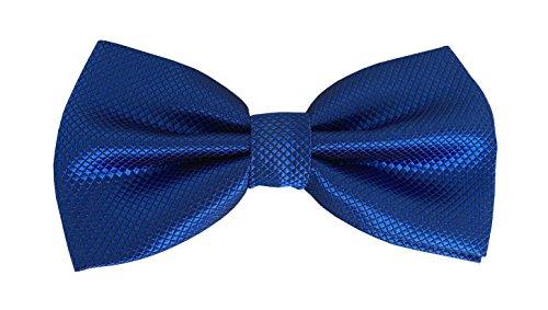 VAPIAO Fliege Anzug Fliege gebundene [Anzugfliege] mit Haken und individuller Verstellmöglichkeit Schleife blau