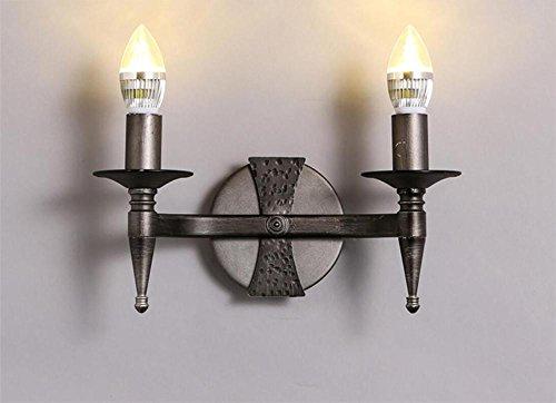 BZJBOY Lampade da parete Lampada a doppia