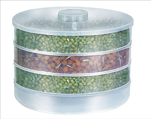 Piesome Plastic Organic Hygienic Sprout Maker with 4 Container (69 oz)