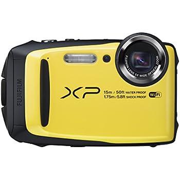 Fujifilm FinePix XP90 Fotocamera Digitale da 16 Megapixel, Sensore CMOS, Zoom 5x, Impermeabile 15 Metri, Stabilizzatore Meccanico, Batteria al Litio, Giallo