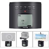 Suptig - Soporte de trípode para cámara de fotos, eléctrico 360 grados, cabezal trípode para iPhone, Samrtphone Cámara digital y Cámara de acción.