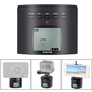 SupTig Stativanschluss Kamera Stativanschluss Elektrische 360 Grad Stativkopf für iPhone Samrtphone Digital Kamera Action Kamera