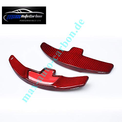 Max Auto Carbon ROT Carbon-Look Schaltpaddles Schaltwippen passend für A B GLA C CLA GLC E GLE GLS Klasse