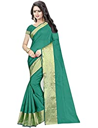 Mac Sarees Women's Cotton Silk Saree With Blouse Piece (Latest Saree M76_Green)