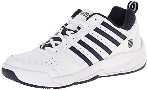 K-Swiss Performance KS TFW Vendy II-White/Navy-M, Herren Tennisschuhe, Weiß (White/Navy), 46 EU (11 Herren UK) (Schnürung Tennis-schuhe)
