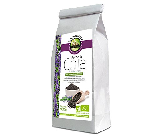 Chia Mehl Bio, Chia gemahlen, Chia Pulver von Chia Samen | 400g | Ethnoscience