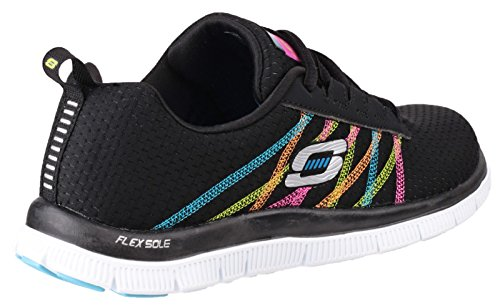 Skechers Flex Appeal Something Fun, Chaussures de sports en salle femme Black/Multi