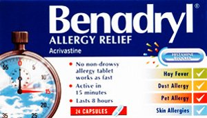 Johnson & Johnson Ltd Benadryl Capsules Allergy Relief 8Mg 24 Pack