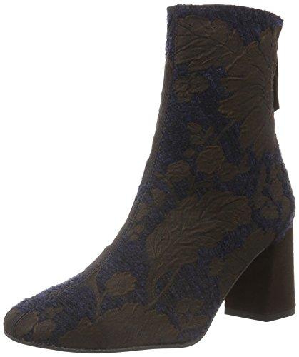 Paco GilP3085 - Stivali a metà polpaccio con imbottitura leggera Donna , Blu (Blau (Marine/MOKA)), 37.5 EU