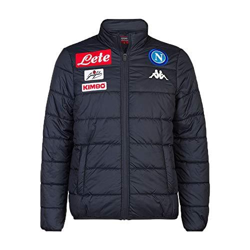 SSC Napoli Chaqueta Quilt de representación, Azul Marino Oscuro, XXL