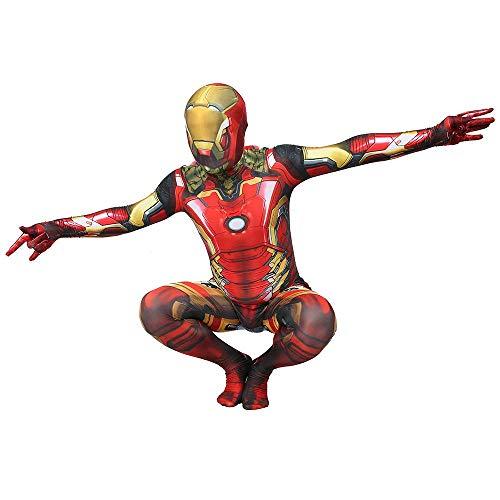 Ironman Weiblicher Kostüm - JHDUID Kind die erstaunliche Iron Man Maske kostüm lron Man kostüm männer Cosplay Kleidung Anzug Jungen Party Halloween Erwachsene,Adult,XL