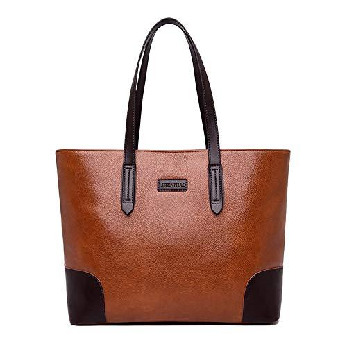 Kieuyhqk Damen Casual Handtasche Big Bag umhängetasche Messenger Bag große kapazität Eimer Tasche Retro Handtasche Frauen Casual Handtasche Schulter-Handtasche (Color : Yellow)