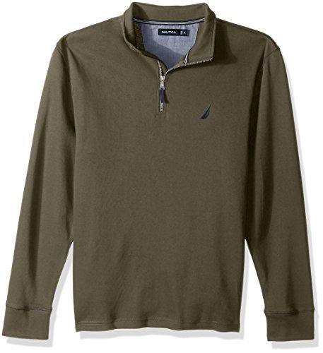 Nautica Herren Long Sleeve Half Zip Mock Neck Luxe Sweatshirt Sweatshirt - grün - -