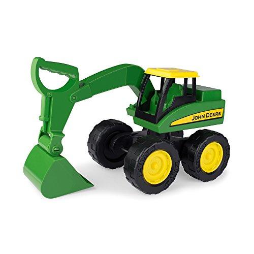 "TOMY Bagger \""John Deere Big Scoop\"" in grün - stabiler & robuster Kinderspielzeug Bagger aus Kunststoff für den Sandkasten - ab 3 Jahre"