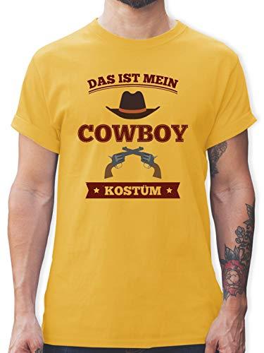 Karneval & Fasching - Das ist Mein Cowboy Kostüm - XXL - Gelb - L190 - Herren T-Shirt ()