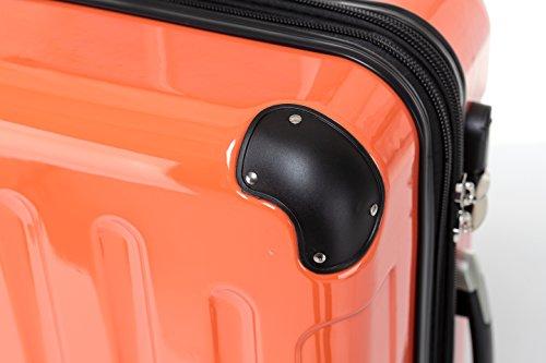 BEIBYE Zwillingsrollen 2048 Hartschale Trolley Koffer Reisekoffer in M-L-XL-Set in 17 Farben ORANGEN