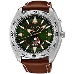 Seiko Prospex Land Kinetic Men's Watch Analogue Quartz Leather SUN051P1