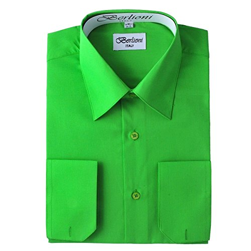 Berlioni Men's Solid Dress Shirt
