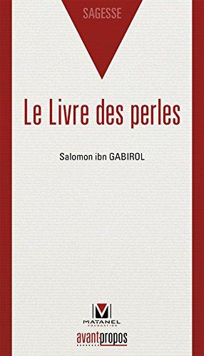 Le livre des perles par Salomon Ibn Gabirol