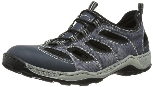 Rieker 08065 Sneakers-Men, Herren Sneakers, Blau (denim/jeans/schwarz/14), 42 EU