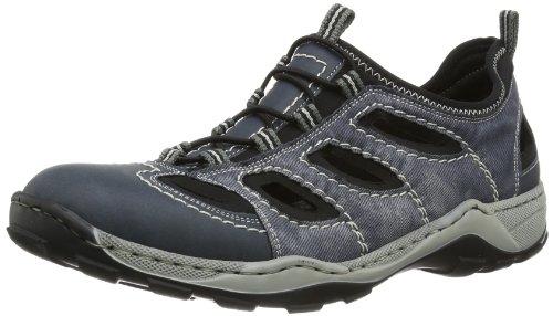 Rieker 08065 Sneakers-Men, Herren Sneakers, Blau (denim/jeans/schwarz/14), 42 EU