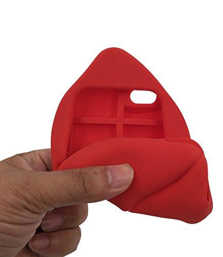 iPhone 6 / 6S Hülle, BENKER Hochwertig Schlagfeste und Kratzfeste Weich Silikon Kreativ 3D Cartoon Telefon Fall - Lippen 2 Lippen 1