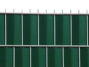 sichtschutz zum doppelstabzaun gr n rolle 70 m inkl 12 stk klemmschienen baumarkt. Black Bedroom Furniture Sets. Home Design Ideas